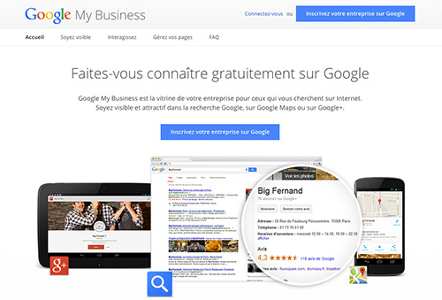 Marche à suivre inscription Google My Business