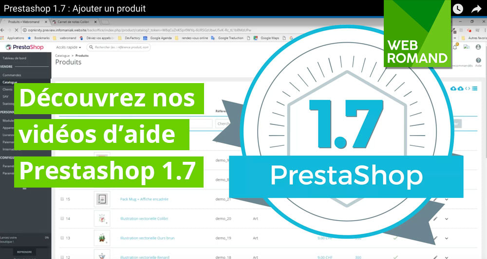 Tutoriel Prestashop 1.7